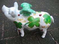 Sparschwein -Viel Glück-