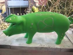 Grünes Sparschwein zur Hochzeit_1