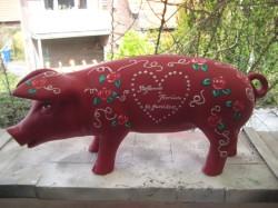 Rotes Sparschwein zur Hochzeit_1