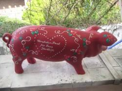 Rotes Sparschwein zur Hochzeit_2