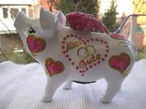 Herziges Sparschwein zur Hochzeit