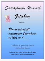 Sparschwein-Gutschein