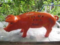 Sparschwein als Abschiedsgeschenk für den Lehrer