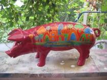 Sparschwein mit orientalische Stadt