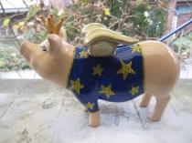 Sparschwein mit T-Shirt zur Geburt