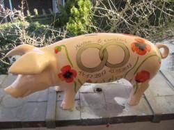 Sparschwein mit rotem Mohn_1
