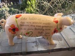 Sparschwein mit rotem Mohn_2