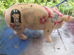 Sparschwein mit Tatoo_1