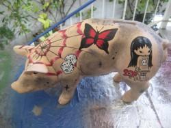 Sparschwein mit Tatoo_2