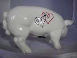 Sparschwein mit Comichund zur Hochzeit_2